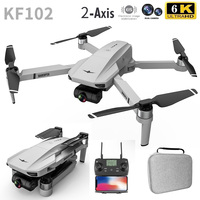 KF102 Drone 3 batería 6k Cámara Dual de HD 2-eje Motor de cardán sin escobillas GPS profesional distancia 1200M plegable RC Quadcopter helicóptero Quadcopter RC helicóptero