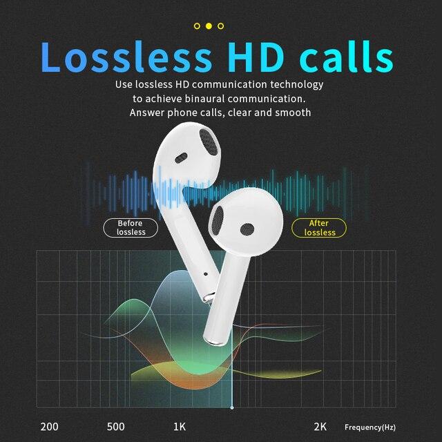 Original TWS Wireless Earbuds In ear headphone With Mic Bluetooth 5.0 Earphones sport Earpiece Headset PK i7S i12 i9s i9000 pro