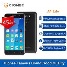 Gionee A1 Lite 4G LTE Smartphone Octa Core 3GB 32GB 20,0 MP Frontkamera Android 7,0 MT6753 4000mAh 5.3 ''Fingerprint Handy