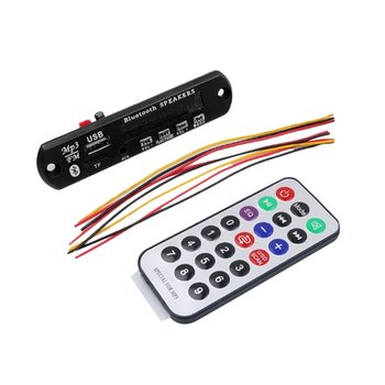 Portable Wireless Bluetooth MP3 WMA Decoder Board with Remote Control Support AUX TF Card USB FM Radio For Car Accessory image