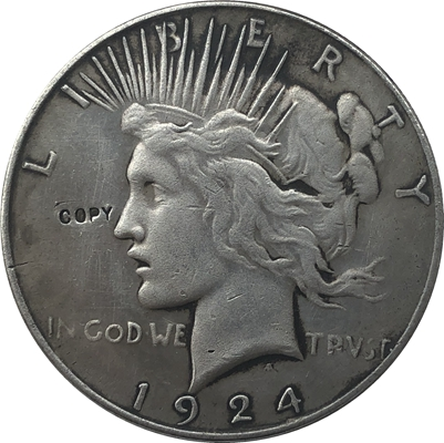 1924 Peace Dollar COIN COPY|Non-currency Coins| |  - title=