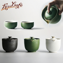 цена на Customize Chinese Kung Fu Tea Set Ceramic Portable Teapot Set Outdoor Travel Gaiwan Tea Cups of Tea Ceremony Teacup Fine Gift