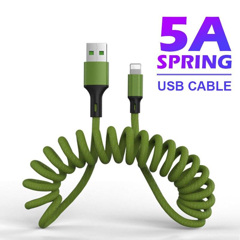 NOHON 5A USB C Kabel Schnelle Ladung Frühling Kabel für iPhone für Blitz Typ C Kabel Micro Datenkabel für huawei Xiaomi 1,5 m