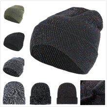 Casual Men Women Winter Beanies High Quality Sequins Design Knitted Cap Fashion Comfortable Baggy Manual Hip Hop Skullies Hats(China)