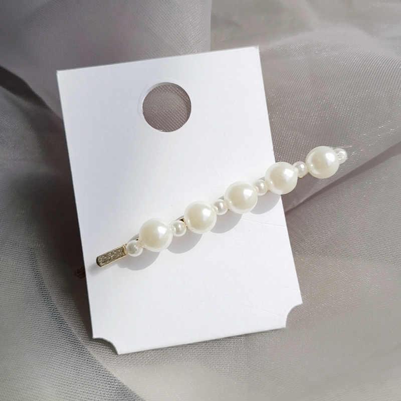 F113 Ngọc Trai Hàn Quốc Tóc Cho Nữ Vàng Thẳng Dính Barrettes 5 chiếc Trâm Cài Tóc Bộ cô dâu phụ kiện tóc Đầu bộ trang sức