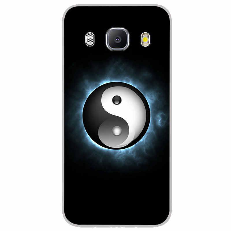 Taichi yinyang mate fundas de silicona para Samsung galaxy J2 J4 Core J6 más J7 primer dúo Max caja del teléfono de TPU la contraportada del silicón del