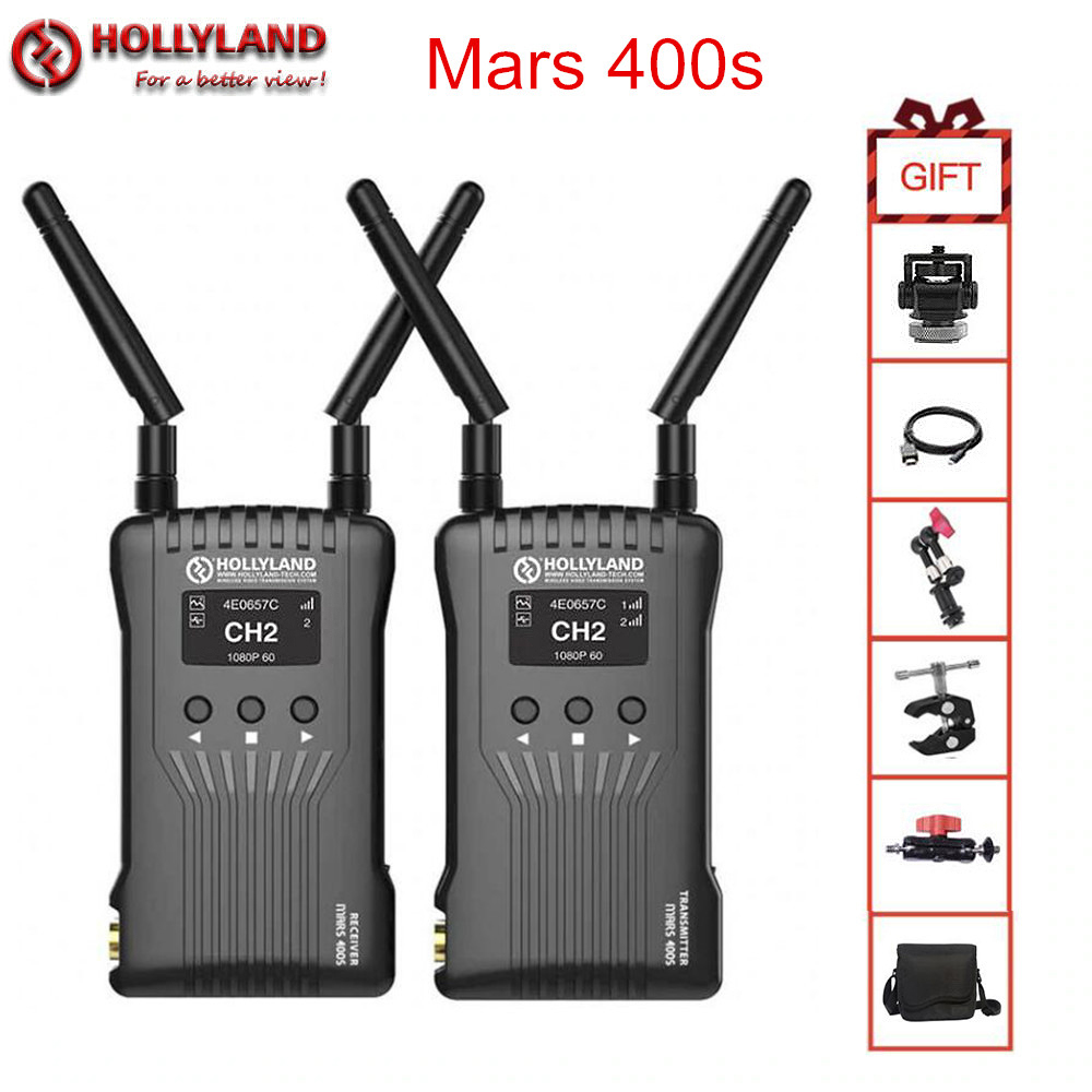Hollyland Mars 400s Wireless Video Transmission System HDMI SDI 1080P Wireless HD Image Transmitter Receiver for Video Movie
