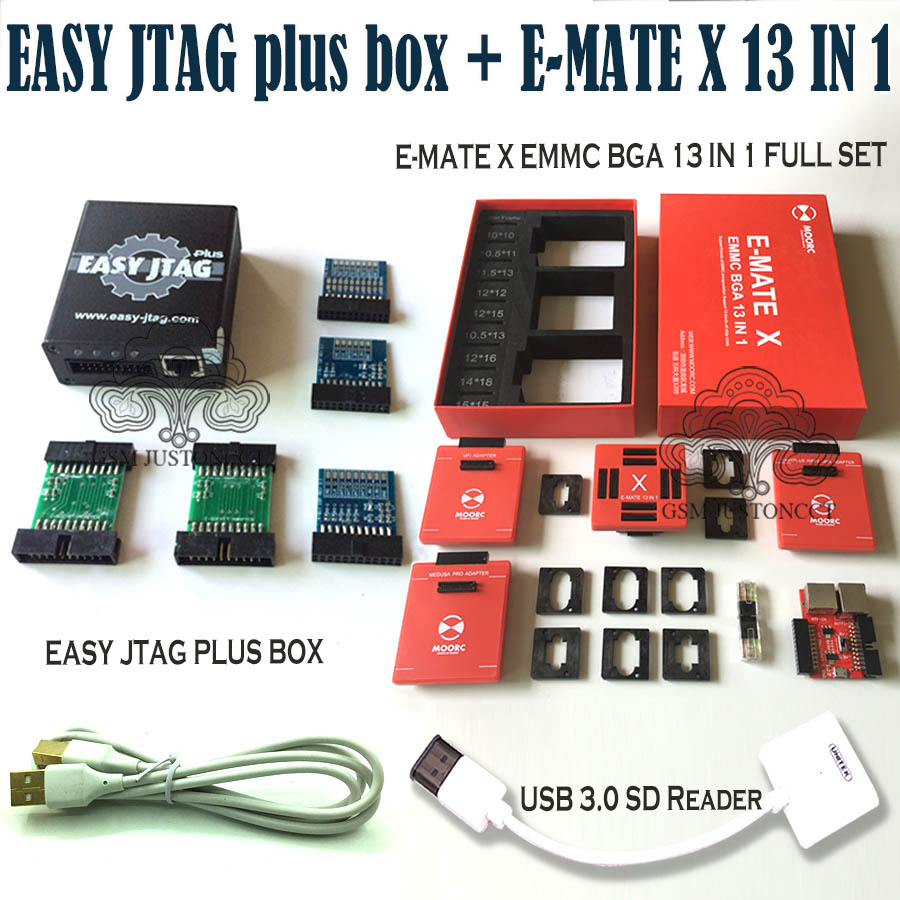 2019 Newest Original z3x - Easy jtag plus <font><b>box</b></font> + <font><b>E</b></font>-<font><b>MATE</b></font> X 13 IN 1 / <font><b>E</b></font>-<font><b>MATE</b></font> X Emate <font><b>box</b></font> EMMC BGA 13 IN 1+ Free Shipping image