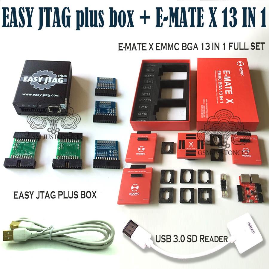 2020  Newest Original z3x - Easy jtag plus box + E-MATE X 13 IN 1 / E-MATE X Emate box EMMC BGA 13 IN 1+ Free Shipping