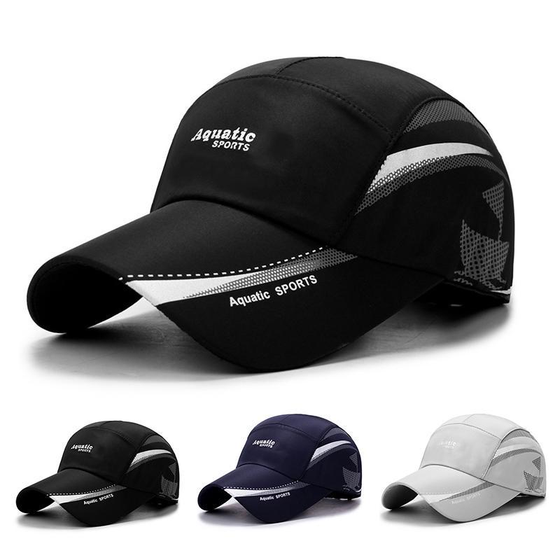 Cappelli da sole estivi da esterno cappellino da pesca da Golf da uomo ad asciugatura rapida da donna cappellini da Baseball Unisex regolabili 1