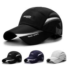 Summer Outdoor Sun Hats Quick Dry Women Men Golf Fishing Cap Adjustable Unisex Baseball Caps cheap FAITOLAGI Breathable Spring and Summer Letter Adult CN(Origin) COTTON Nylon Sports Casual Spring2021 RA222z One Size Cycling