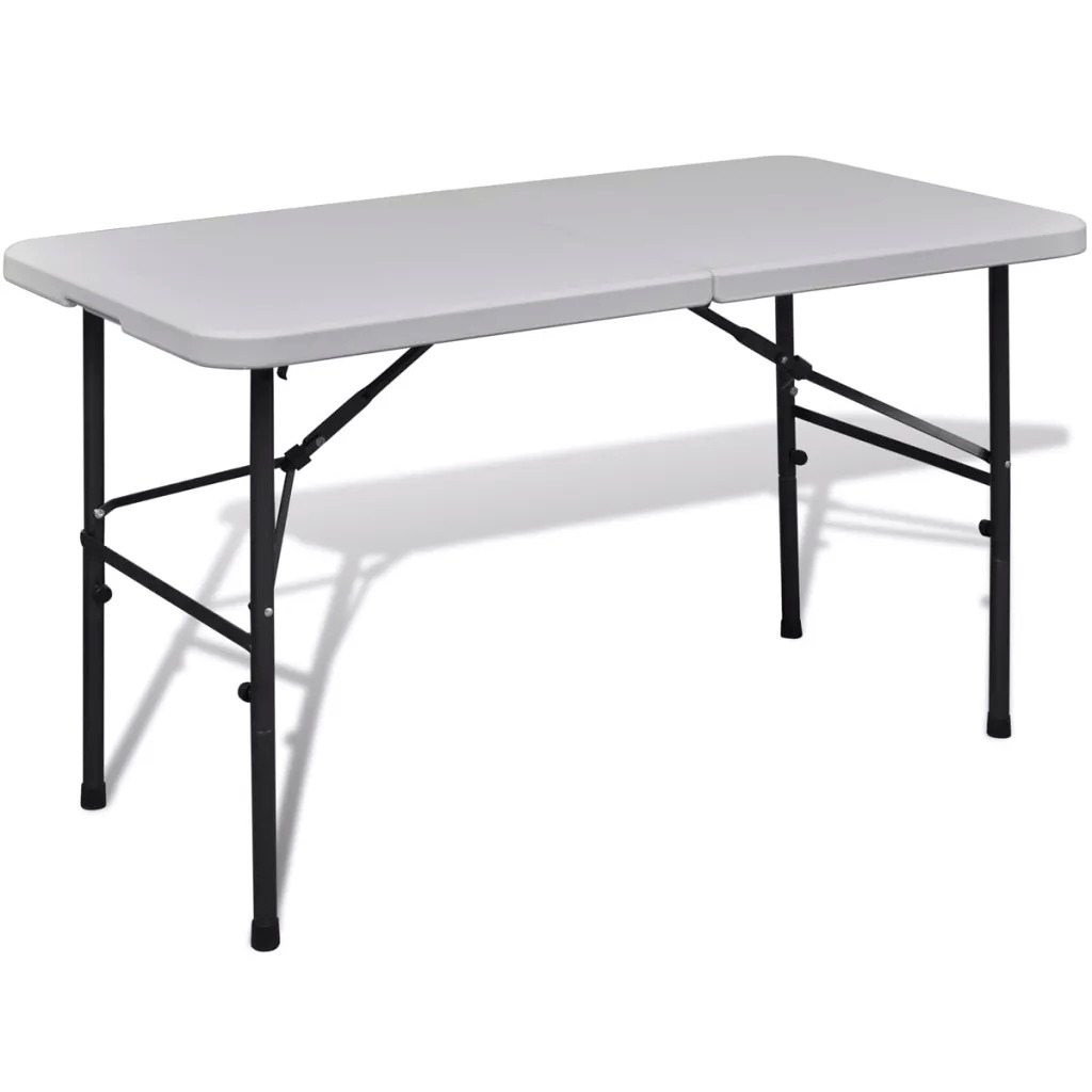 VidaXL Foldable Garden Table 122 Cm Portable Camping Tables Outdoor Aluminium Alloy Foldable Picnic Desk Ultralight
