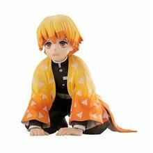 New Arrival Anime Kimetsu No Yaiba Figur Doll Agatsuma Zenitsu Action Figure Demon Slayer Figures PVC Collection Model Toys Gift