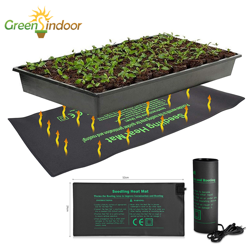 Seedling Heating Mat 52x24cm Waterproof Plant Seed Germination Propagation Clone Starter Pad 110V/220V Garden Grow Supplies 1pc