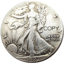 US 1923 1927 1928 1933  Walking Liberty Half Dollar Silver Plated Copy Coins