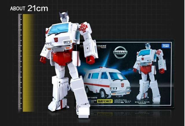Japão versão transformação mestre mp30 mp27 MP-27 ambulância estanho folha ko versão pvc ação deformação modelo crianças bonecas brinquedos