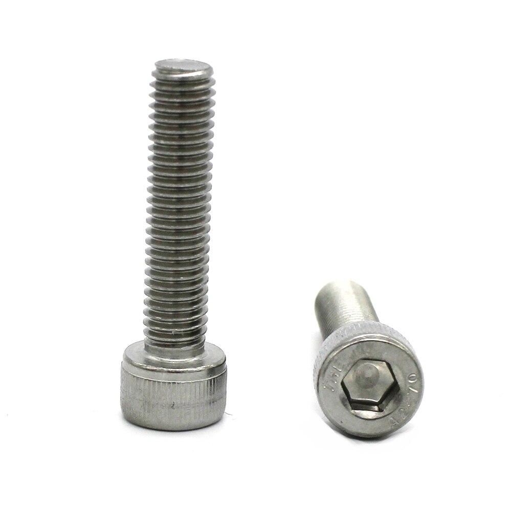 Full Thread Bright Finish Stainless Steel 18-8 Allen Socket Drive 15 PCS 5//16-18 x 1 Flat Head Socket Cap Screws