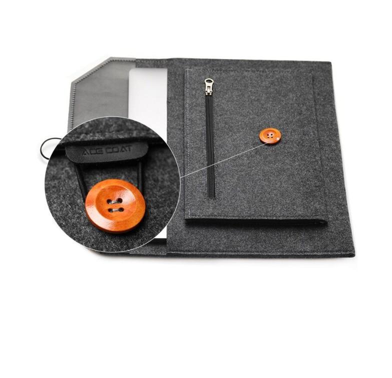11 12 13 15 Fashion Wool Felt Laptop Sleeve Bag Notebook Handbag Case For Macbook Air Pro Retina Lenovo Asus HP Laptop Liner Bag (17)