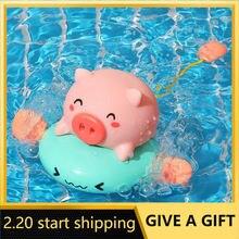 Игрушка для ванны «свинья на носу» распылитель воды новая игрушка
