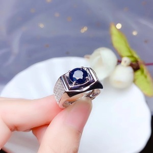 Image 2 - KJJEAXCMY boutique jewelry 925 sterling silver inlaid Natural sapphire gemstone ring men support detection noble