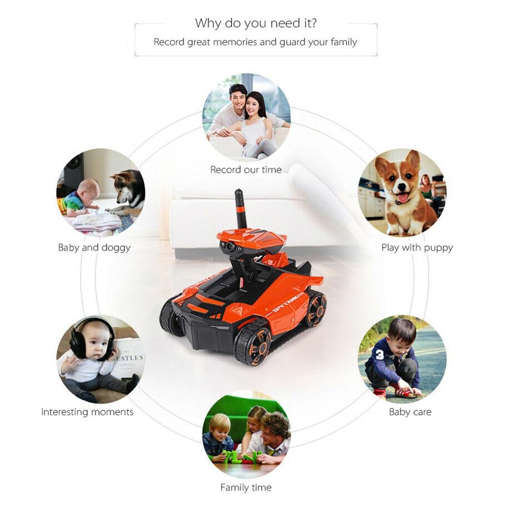 Робот смартфон управление led дети полное направление вождения высокая скорость RC игрушка танк Wi-Fi FPV 0.3MP камера дистанционного управления по бездорожью
