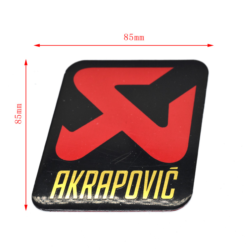 AKRAPOVIC Aluminium Heat-resistant <font><b>Motorcycle</b></font> <font><b>Exhaust</b></font> Pipes Decal Sticker For <font><b>sc</b></font> ar Yoshimura Akrapovic Leovince image
