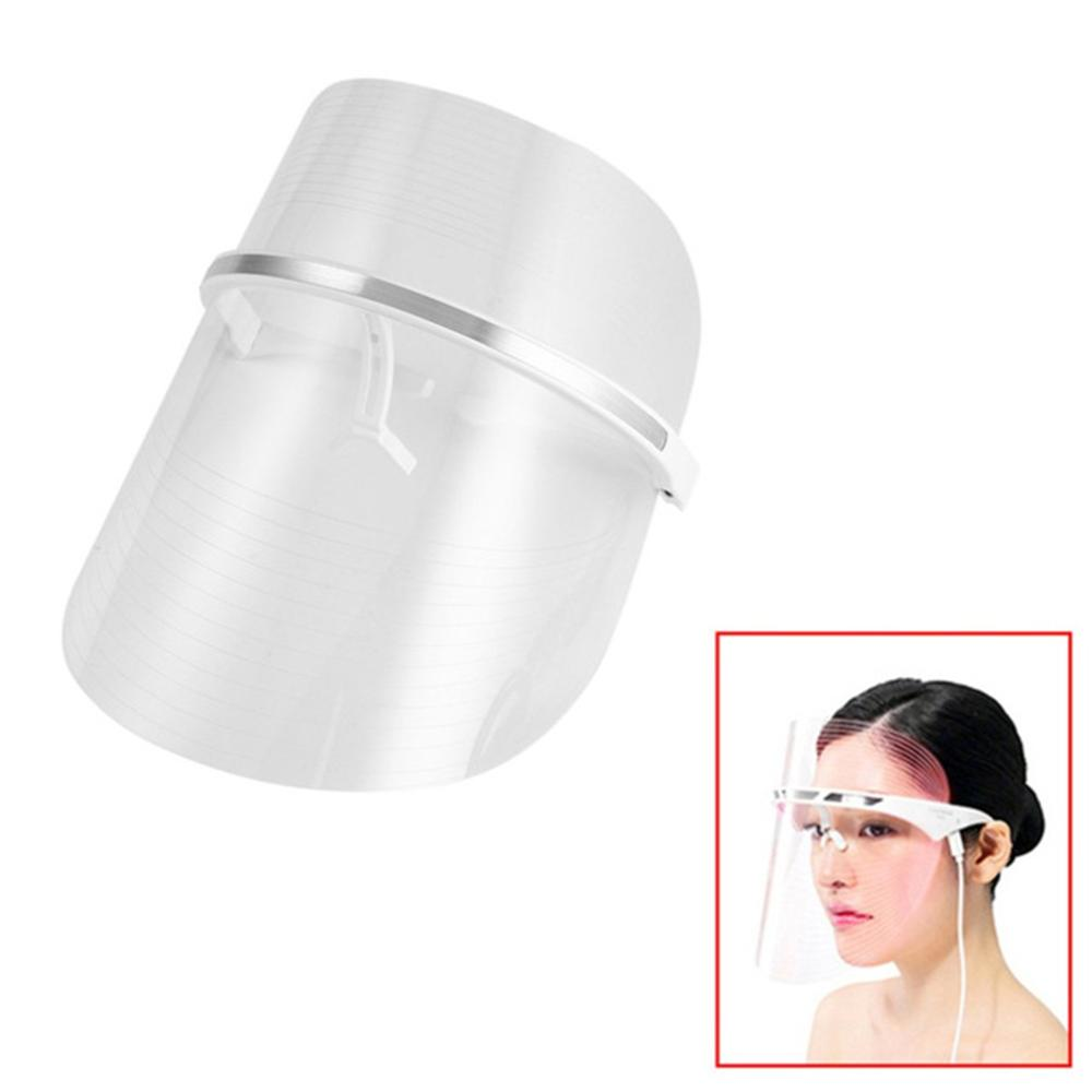 3 Colors Photon Electric LED Facial Mask Machine Skin Rejuvenation Anti Acne Wrinkle Beauty Treatment Salon Whitening Spa Mask