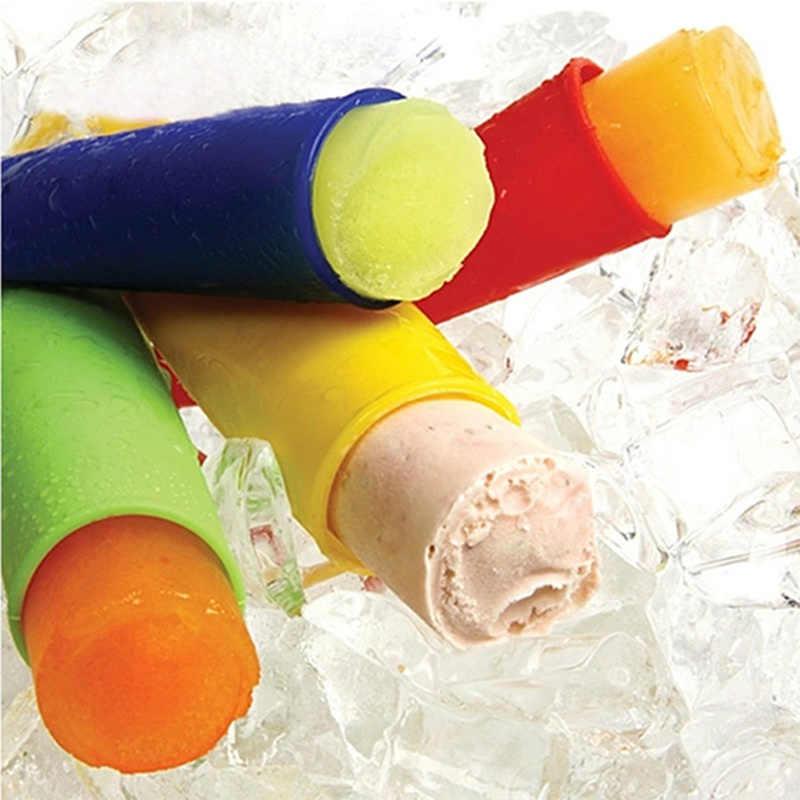 DIY Musim Panas Beku Es Krim Cetakan 1PC Silikon Ice Stick Cetakan Bentuk Es Krim Pembuat Es Loli Pembuat Lolly cetakan Dapur Alat