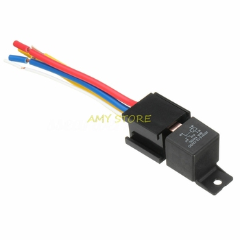 5/12/24/36/48/60/72/96VDC 4/5Pin DC AMP SPDT JD2912 Car Relay 40/70A80A Socket Car Vehicle Security Power Relay with Socket fuse image
