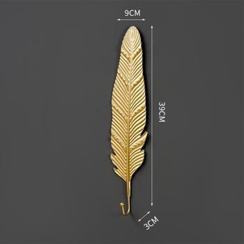 Leaves Shape Iron Hook Nordic Wall Decoration Leaf Key Watch Bags Jewelry Haning Hook Mutifuctional Wall Hanger Rack 8