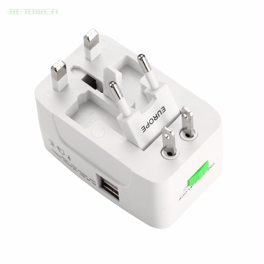 Power-Charger World Adaptor International Travel Universal USB 2 With AU UK Eu-Converter-Plug