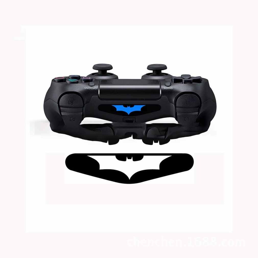 5pcs/lot Personalized Bat Joystick Stickers For Playstation 4 Game Controller Light Bar PVC Decals LED Stickers