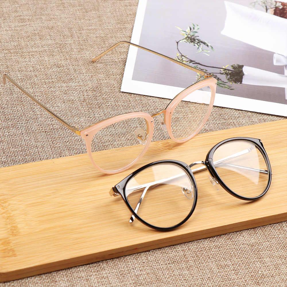1 قطعة للجنسين قصر النظر النظارات البصرية النظارات إطارات النساء الاتجاه المعادن النظارات واضح العدسات الرجال نظارات إطار Oculos دروبشيب