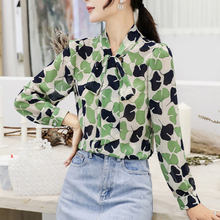 Autumn Korean Fashion Chiffon Shirt Elegant Women Floral Blouses Shirts Plus Size Blusas Mujer De Moda Tops