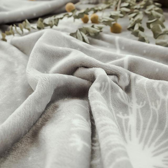 Plain Simple Blanket Winter Warm Chunky Fleece Blanket Soft Furry Blanket Cover for bed