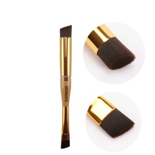 Makeup-Brushes Short-Handle Multi-Function Professional Portable 1pc 2-Heads Gold-Color