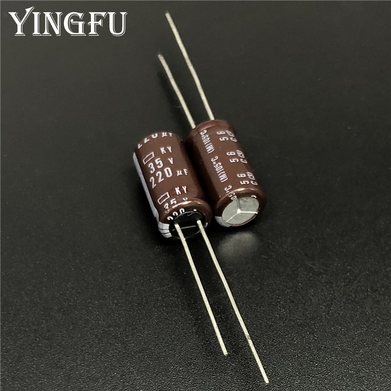 10Pcs Electrolytic Capacitors 10V 220uF Volume 5x11 mm 220uF 10V