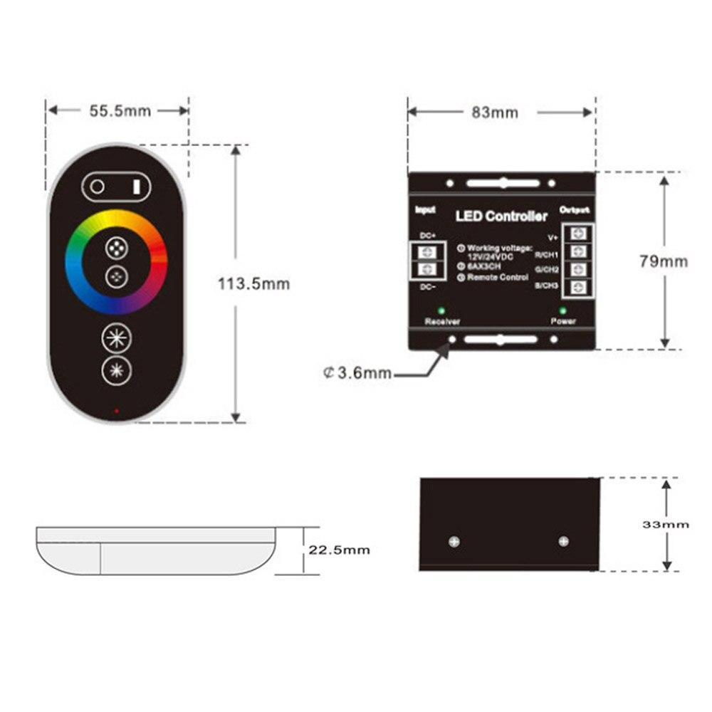 12 24v do rf 216 mhz controlador 02