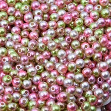 New Mix Rainbow Color Round 3mm ABS Imitation Pearl Plastic Beads Hole 1.0mm Loose Beads Diy Jewelry Necklace Making 1000PCS
