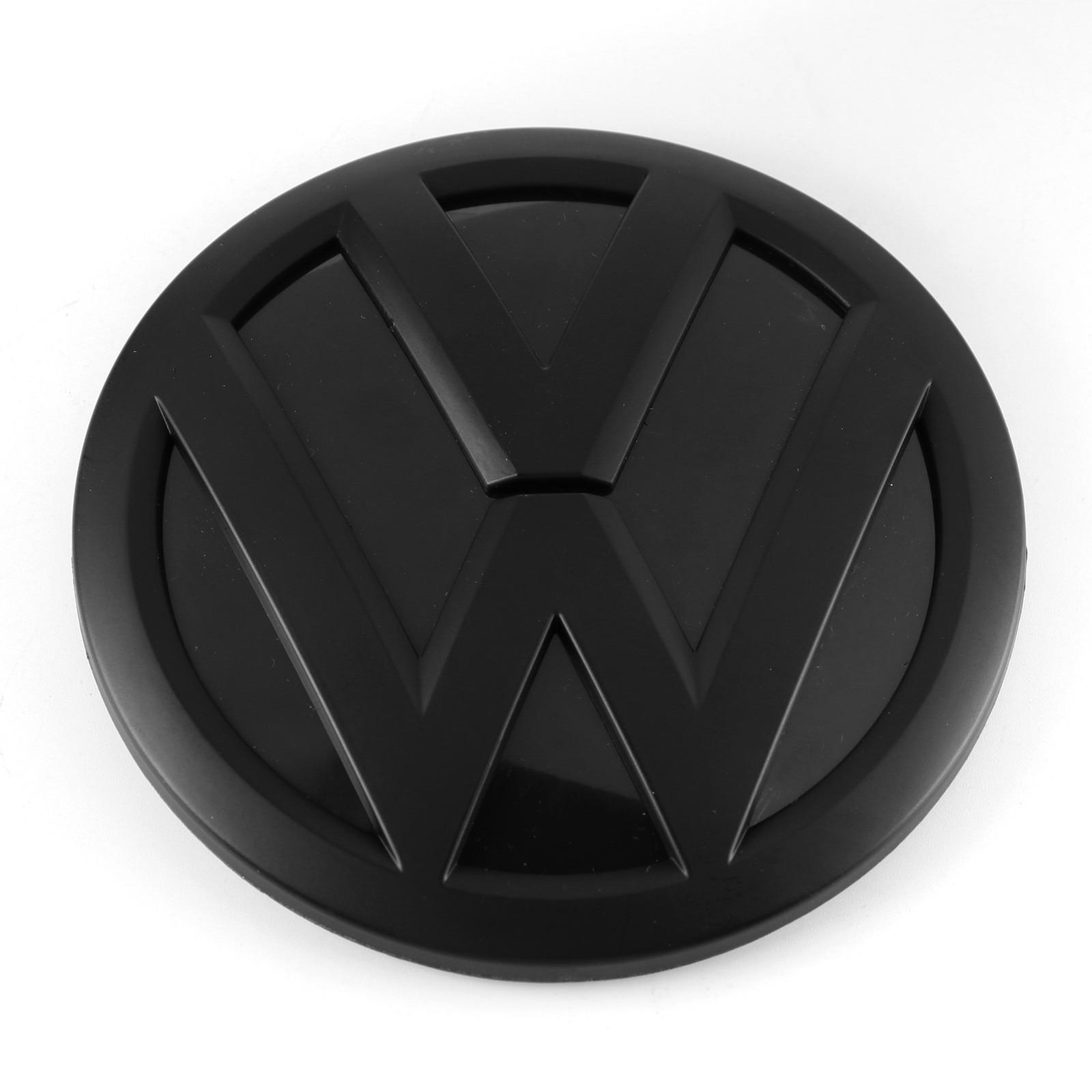 Матовый черный 110 мм Задняя Крышка багажника значок эмблема автомобиля Замена для Фольксваген тигуан