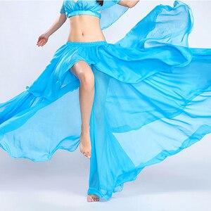 Image 3 - Profesional de la competencia Sexy gasa para las mujeres danza del vientre falda Maxi traje Dancer Dress11 Color; Envío gratis
