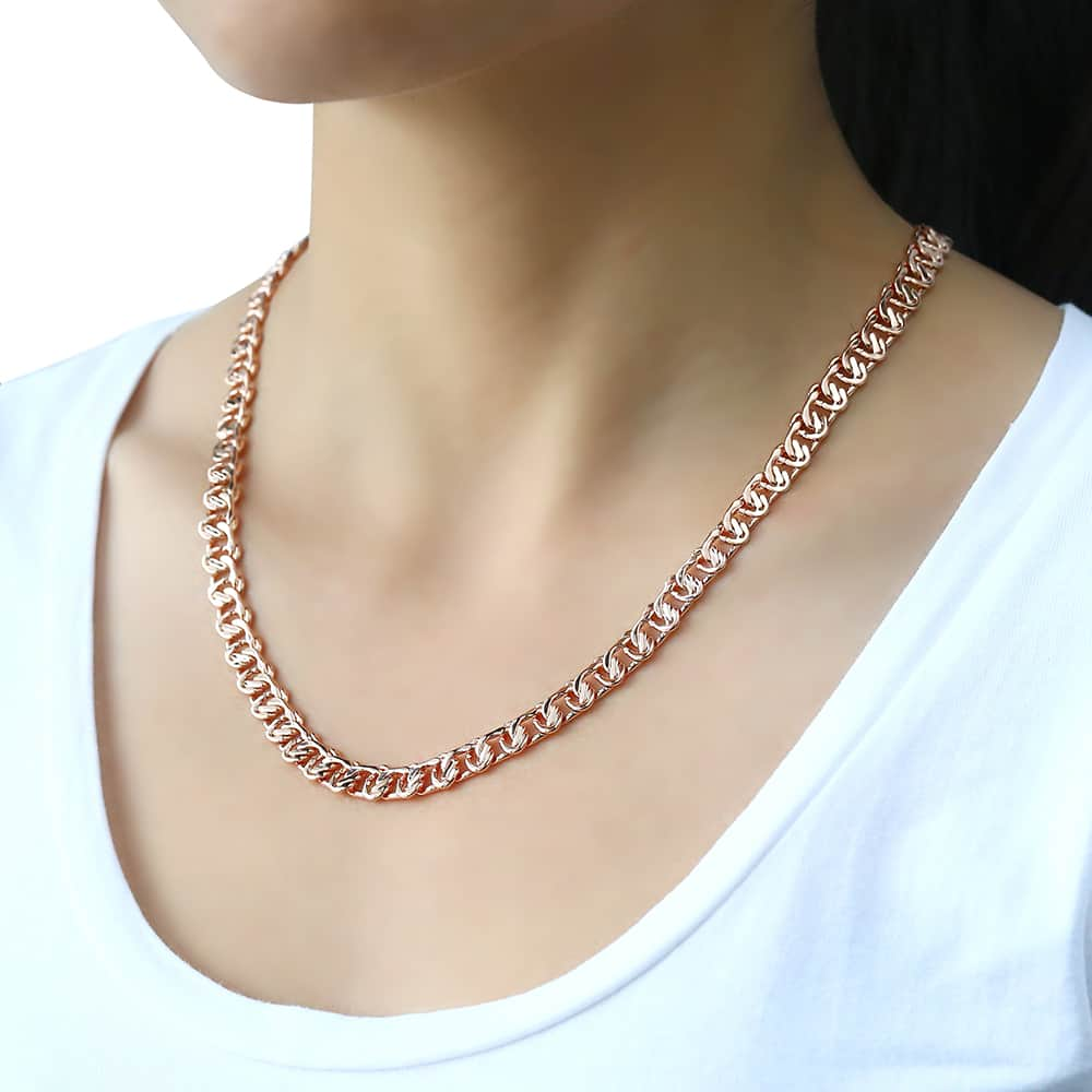 585 Rose Gold Necklace For Women Snail Link Mens Womens Chain Necklaces Jewelry Gift For Women 7 5mm Dlgn219 Gold Necklace Women Rose Gold Necklace Womenrose Gold Necklace Aliexpress