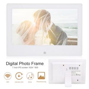 7in Digital Photo Frame 1024x600 IPS HD Electronic Album Body Sensor Calendar Music Video Player Birthday Wedding Festival Gifts