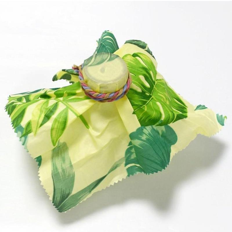 HLZS-многоразовая упаковка из пчелиного воска, уплотнение для сохранения свежести пищи, крышка, стрейч вакуумная пищевая пленка, пчелиный воск, ткань, кухонные инструменты