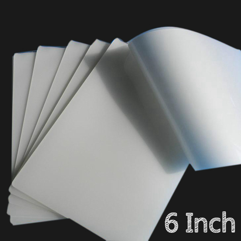 50 Sheets/Pack 6inch 70mic Hot Laminating Film Laminator Flim PET+EVA Material For Photo/Files/Card/Picture Laminate Pouches