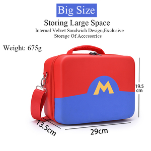 Image 2 - Portable EVA Storage Bag Marios Shell Carrying Case For Nintend Switch Accessories Water resistent Protective Case Cover Box
