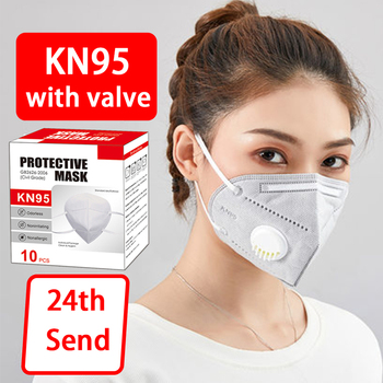 KN95 With Breathing Valve mask respirator defense spray air mask with filter face protection Anti Flu Dust Pollution Particulate