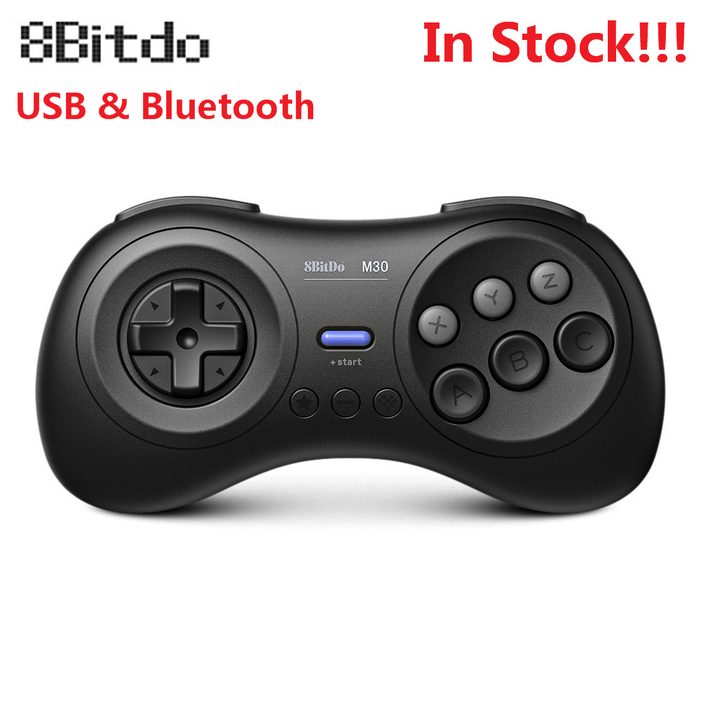 8BitDo M30 Wireless Bluetooth Gamepad Controller For Sega Genesis Mega Drive Style For Nintendo Switch PC MAC Steam Games