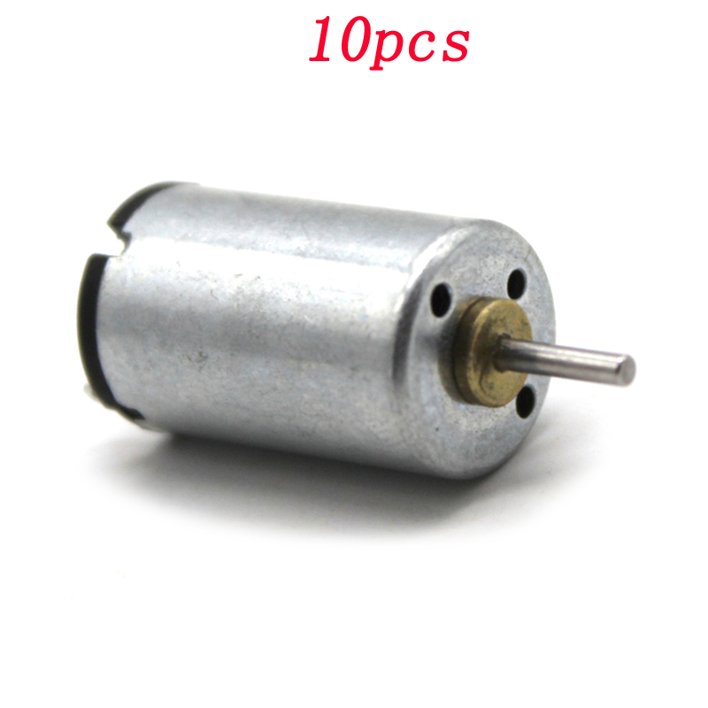 10pcs <font><b>1220</b></font> Micro Mini DC <font><b>Motor</b></font> 3V 9500rpm High Speed Silent Engine Power Parts Shaft Dia 1.5mm for Students DIY Assembly image