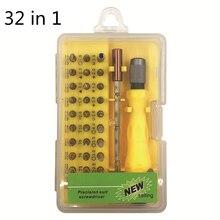 32 в 1 Набор отверток прецизионная мини Магнитная отвертка Набор бит телефон Мобильный IPad камера ремонтный инструмент Отвертка